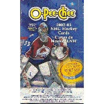 2002/03 O-Pee-Chee Hockey Hobby Box