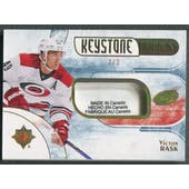 2016/17 Ultimate Collection #KFVR Victor Rask Keystone Fabrics Gold Spectrum Laundry Tag #2/3