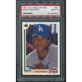 1991 Upper Deck Final Edition #2F Pedro Martinez Rookie PSA 9 (MINT)