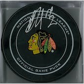 Artemi Panarin Autographed Chicago Black Hawks Official Puck (Fanatics COA)