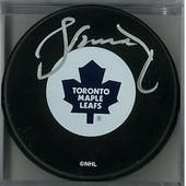 Borje Salming Autographed Toronto Maple Leafs Hockey Puck (AJSW COA)