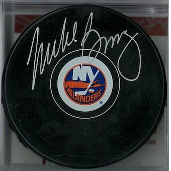 Mike Bossy Autographed New York Islanders Hockey Puck (JSA COA)