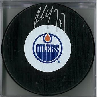 Paul Coffey Autographed Edmonton Oilers Hockey Puck (Cojo COA)