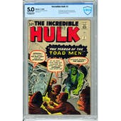 Incredible Hulk #2 CBCS 5.0 (OW-W) *18-09D0CD7-015*