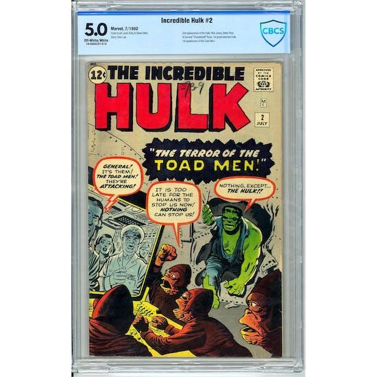 Incredible Hulk #2 CBCS 5.0 (OW-W) *18-09D0CD7-015*