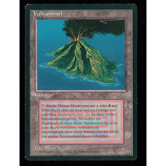 Magic the Gathering 3rd Edition GERMAN FBB Single Volcanic Island - NEAR MINT minus (NM-)