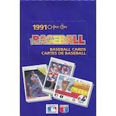 1991 O-Pee-Chee Premier Baseball Wax Box (Reed Buy)
