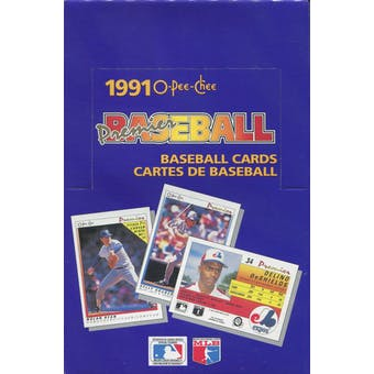 1991 O-Pee-Chee Premier Baseball Wax Box