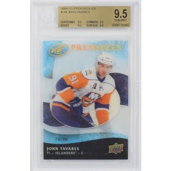 2009/10 UD Ice Premieres John Tavares RC #184 LE #76/99 BGS 9.5 (9.5,9.5,9.5,9.5)
