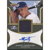 2009 Upper Deck Signature Stars #MM Manny Machado USA Star Rookie Jersey Auto #157/399