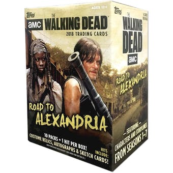 The Walking Dead Road to Alexandria 10-Pack Box (Topps 2018)