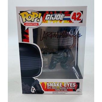 GI JOE Snake Eyes Funko POP Autographed by Artist Larry Hama