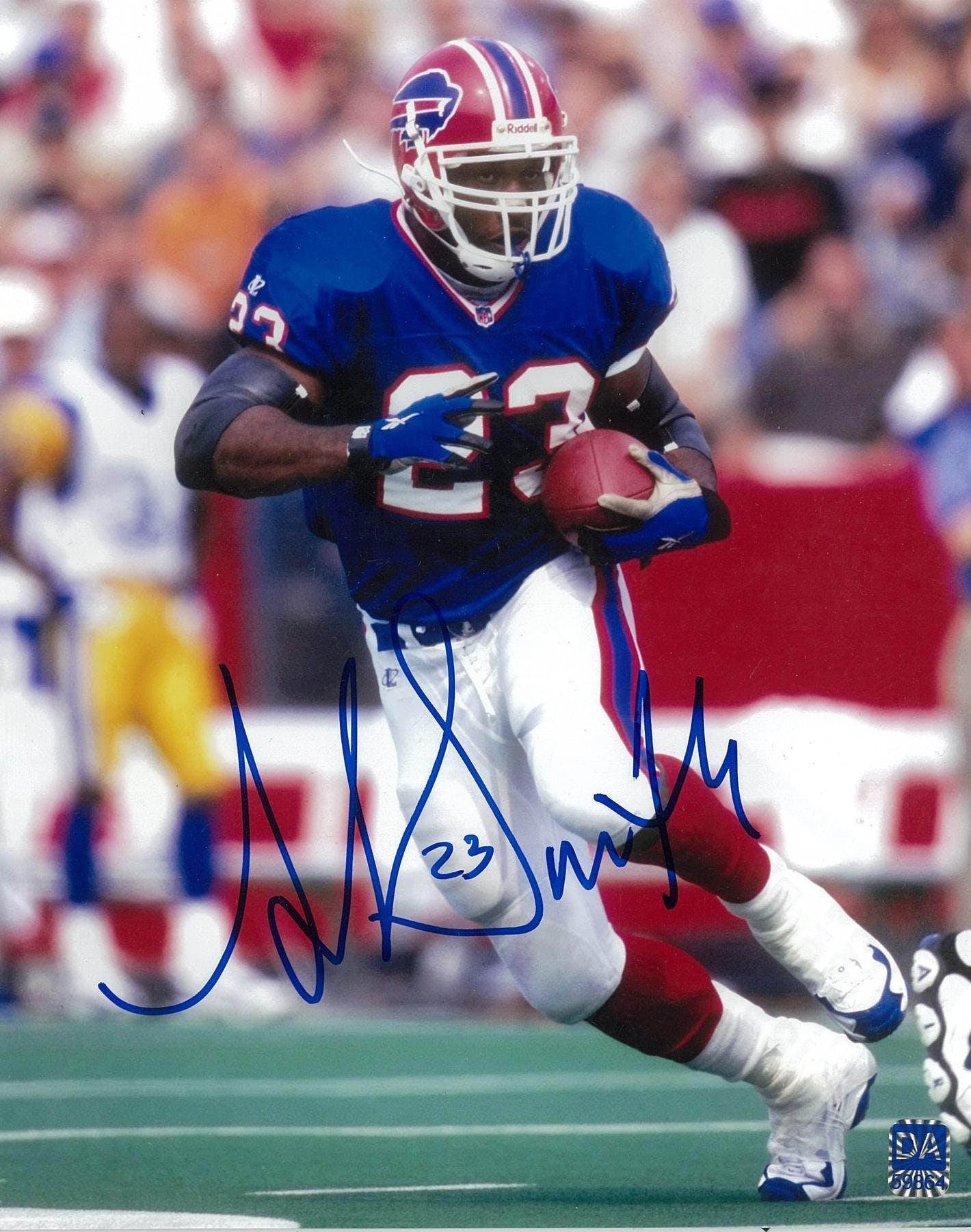 dcfb39f6 Antowain Smith Autographed Buffalo Bills 8x10 Football Photo