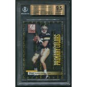2001 Donruss Elite #PC8 Drew Brees Primary Colors Yellow Sample Promo Rookie BGS 9.5 (GEM MINT)