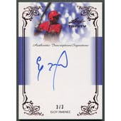 2013 Leaf Trinity Inscriptions #DTIEJ1 Eloy Jimenez Red Rookie Auto #3/3