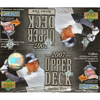 2007 Upper Deck Series 2 Baseball 24 Pack Box