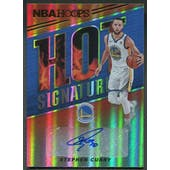 2018/19 Hoops #49 Stephen Curry Hot Signatures Auto
