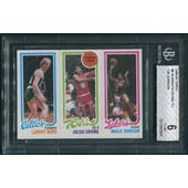 1980/81 Topps Basketball #6 Larry Bird Julius Erving Magic Johnson Rookie BGS 6 (EX-MT)