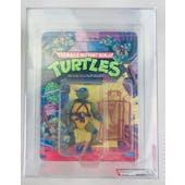 Teenage Mutant Ninja Turtles Leonardo Series 1 / 10 Back AFA 80 NM Plastic Head