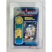 Star Wars POTF R2-D2 Pop-Up Lightsaber 92 Back AFA 75 Y-EX+/NM *19190296* C70 B75 F85