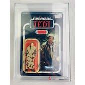 Star Wars ROTJ Han Solo (In Trench Coat) Plain Lapel 77 Back-A AFA 75+Y-EX+/NM *11072885* C75 B85 F90