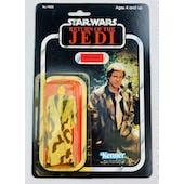 Star Wars ROTJ Han Solo Treach Coat Plain Lapel 79 Back Carded Figure