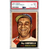1953 Topps Baseball #27 Roy Campanella PSA 6 (EX-MT) *9897