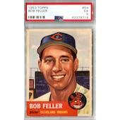 1953 Topps Baseball #54 Bob Feller PSA 5 (EX) *9719