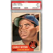 1953 Topps Baseball #61 Early Wynn PSA 5.5 (EX+) *9071
