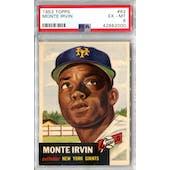 1953 Topps Baseball #62 Monte Irvin PSA 6 (EX-MT) *2000