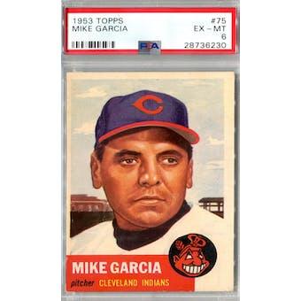 1953 Topps Baseball #75 Mike Garcia PSA 6 (EX-MT) *6230