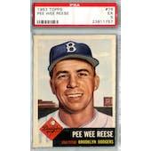 1953 Topps Baseball #76 Pee Wee Reese PSA 5 (EX) *1757