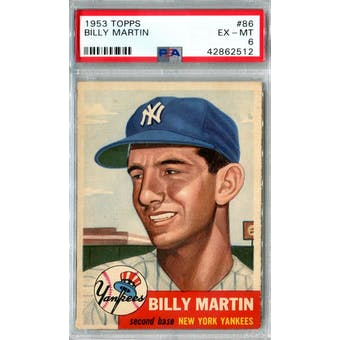 1953 Topps Baseball #86 Billy Martin PSA 6 (EX-MT) *2512