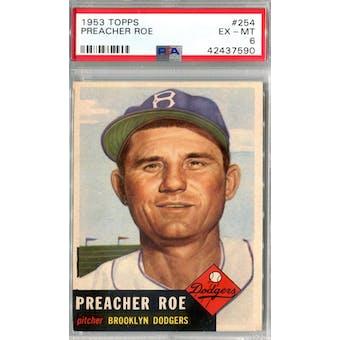 1953 Topps Baseball #254 Preacher Roe PSA 6 (EX-MT) *7590