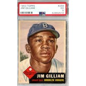 1953 Topps Baseball #258 Jim Gilliam PSA 5 (EX) *2510