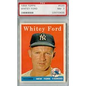 1958 Topps Baseball #320 Whitey Ford PSA 7 (NM) *0435