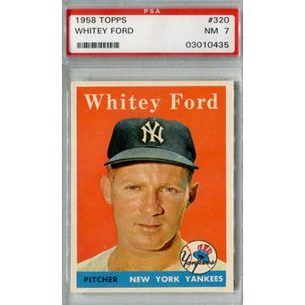 1958 Topps Baseball #320 Whitey Ford PSA 7 (NM) *0435