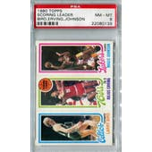 1980/81 Topps Basketball Larry Bird/Julius Erving/Magic Johnson PSA 8 (NM-MT) *0139