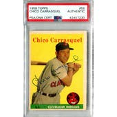 1958 Topps Baseball #55 Chico Carrasquel PSA/DNA Authentic Signed Auto *7230