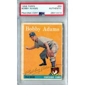 1958 Topps Baseball #99 Bobby Adams PSA/DNA Authentic Signed Auto *3414