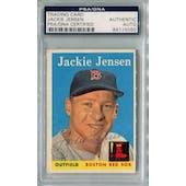 1958 Topps Baseball #130 Jackie Jensen PSA/DNA Signed Auto *5050