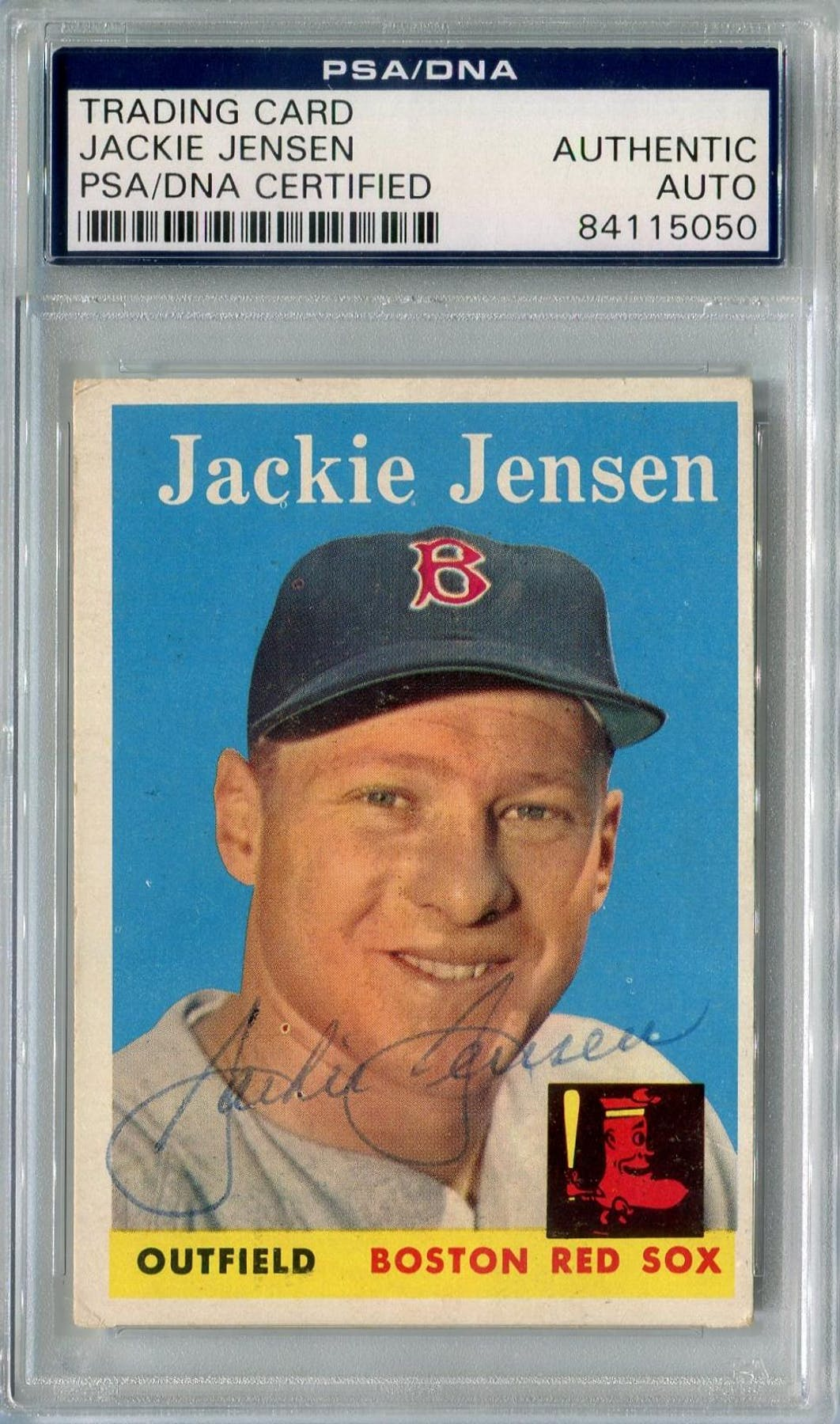 1958 Topps Baseball 130 Jackie Jensen Psadna Signed Auto 5050