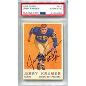 1959 Topps Football #116 Jerry Kramer RC PSA/DNA Authentic Signed Auto *0086