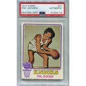 1973/74 Topps Basketball #71 Phil Jackson PSA/DNA Authentic Signed Auto *4118