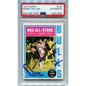 1974/75 Topps Basketball #140 Norm Van Lier PSA/DNA Authentic Signed Auto *7255