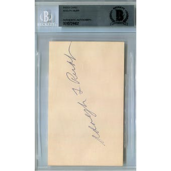 Adolph Rupp Index Card BAS Signed Auto *4402
