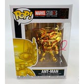 Marvel Ant-Man Gold Chrome Funko POP Autographed by Paul Rudd