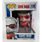 Marvel Captain America Civil War Giant-Man Funko POP Autographed by Paul Rudd
