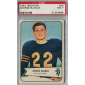1954 Bowman Football #23 George Blanda PSA 7 (NM) *7196