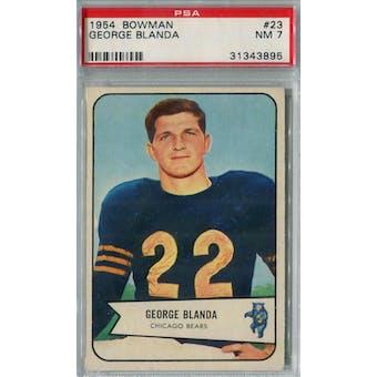 1954 Bowman Football #23 George Blanda PSA 7 (NM) *7196